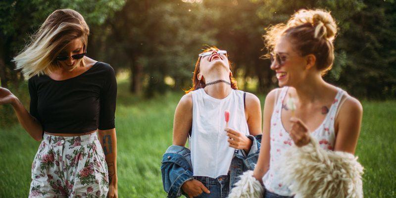 girls laugh